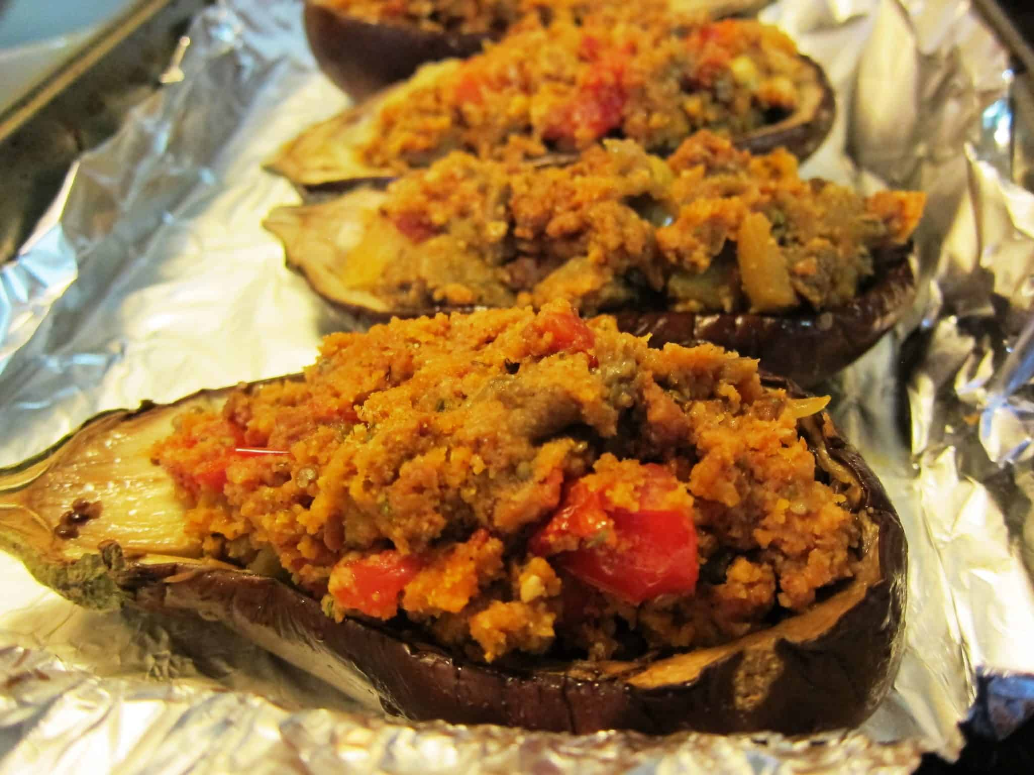 Sausage Stuffed Eggplant | BlogHer