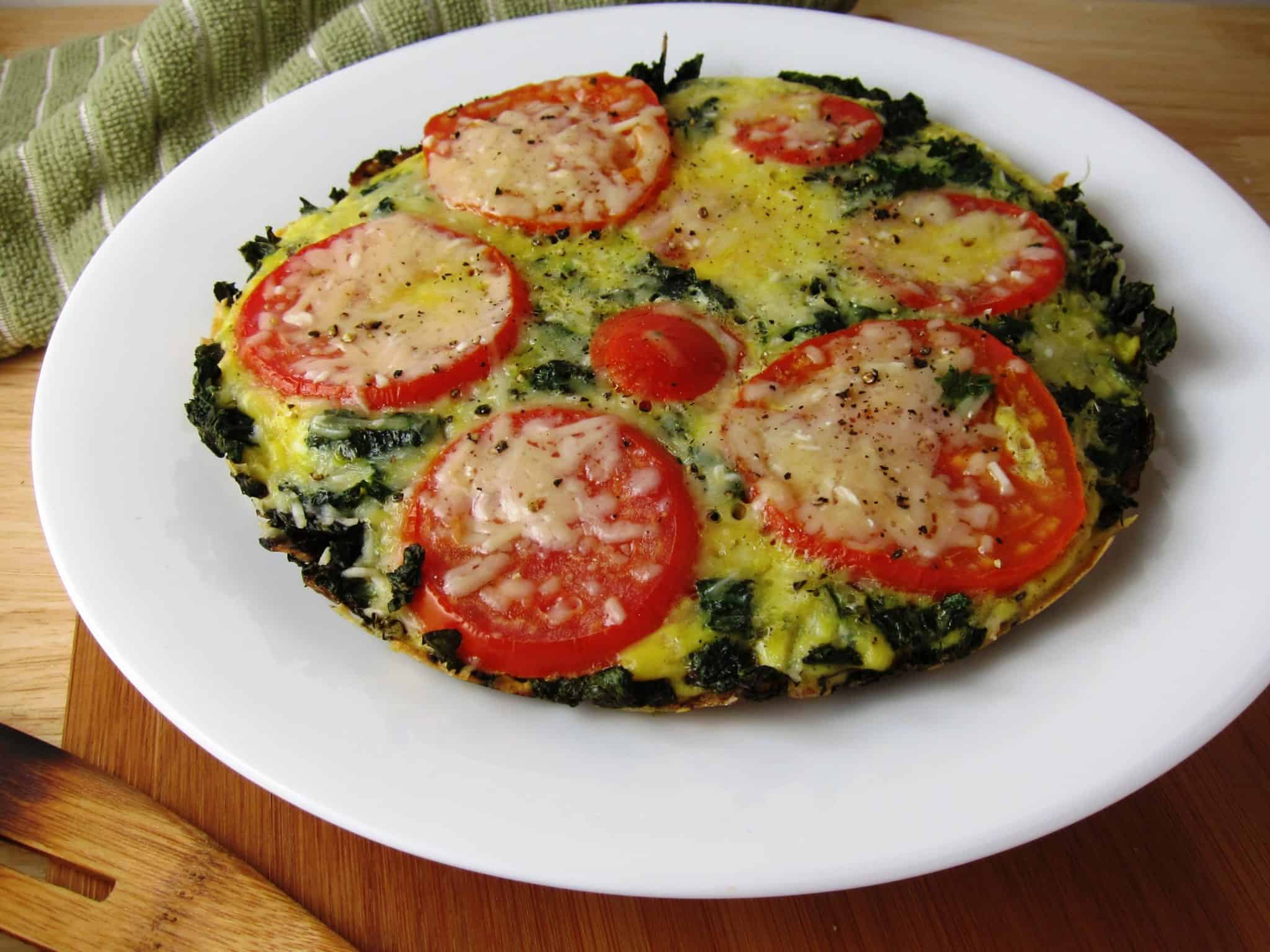 15 Minute Vegetable-Loaded No Bake Frittata Babaganosh