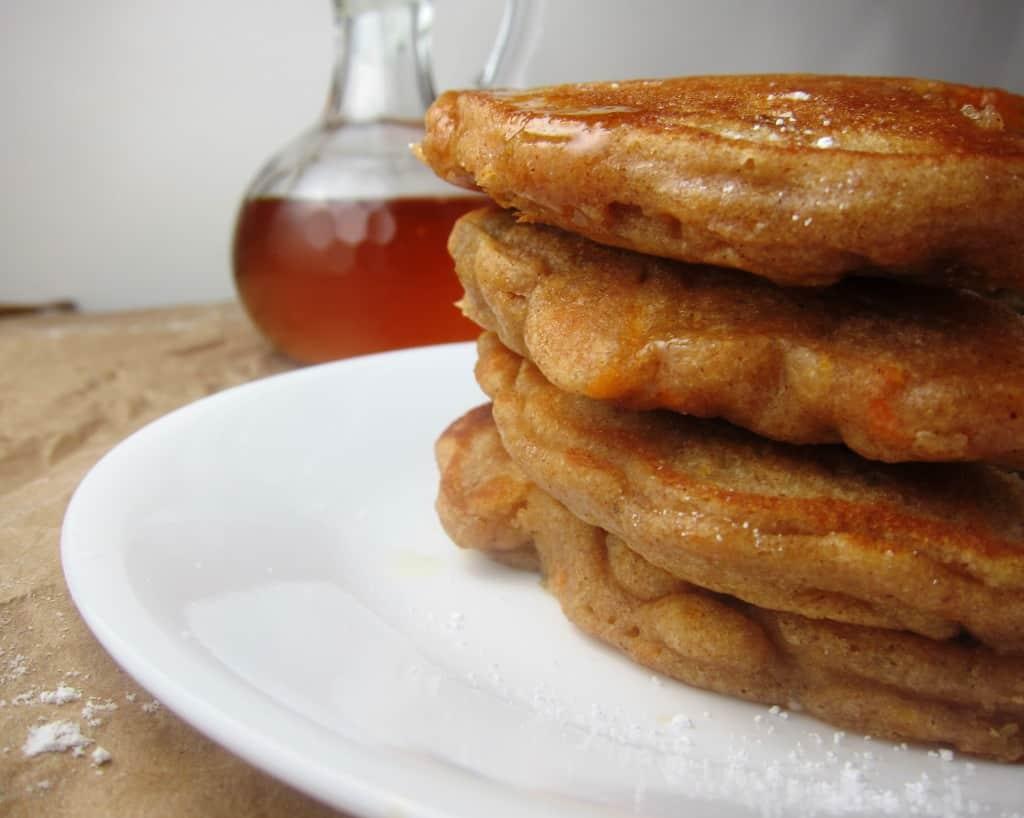 whole wheat carrot cake pancakes