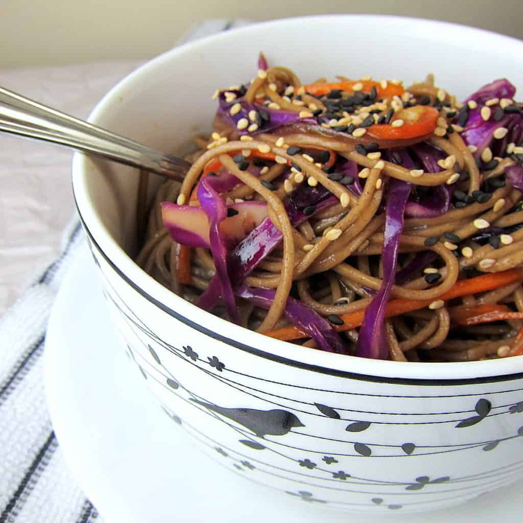 Red Cabbage And Fried Mortadella Okonomiyaki Recipes: 20 Minute Crunchy Soba And Red Cabbage Stir Fry