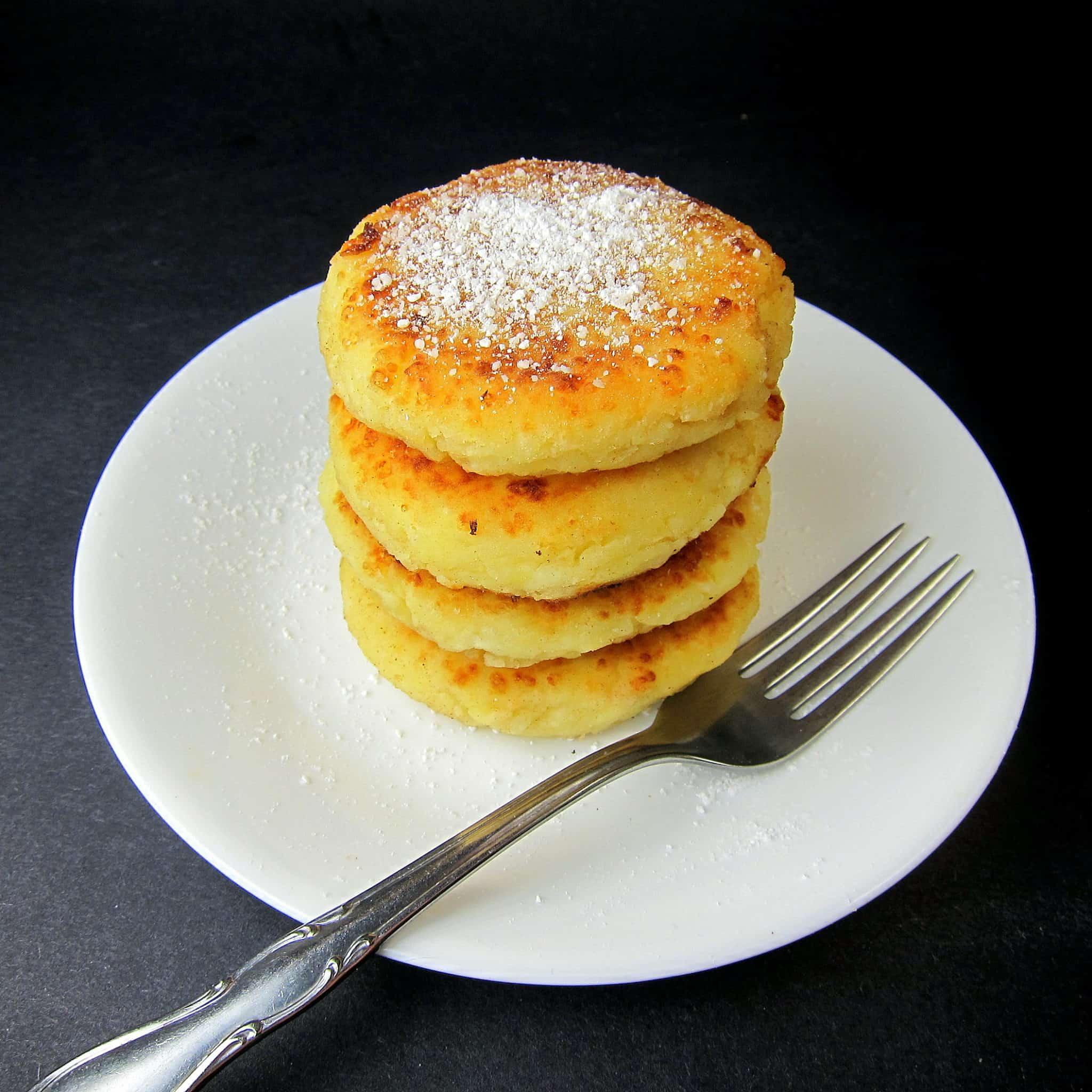 Syrniki Russian Cheese Pancakes Babaganosh
