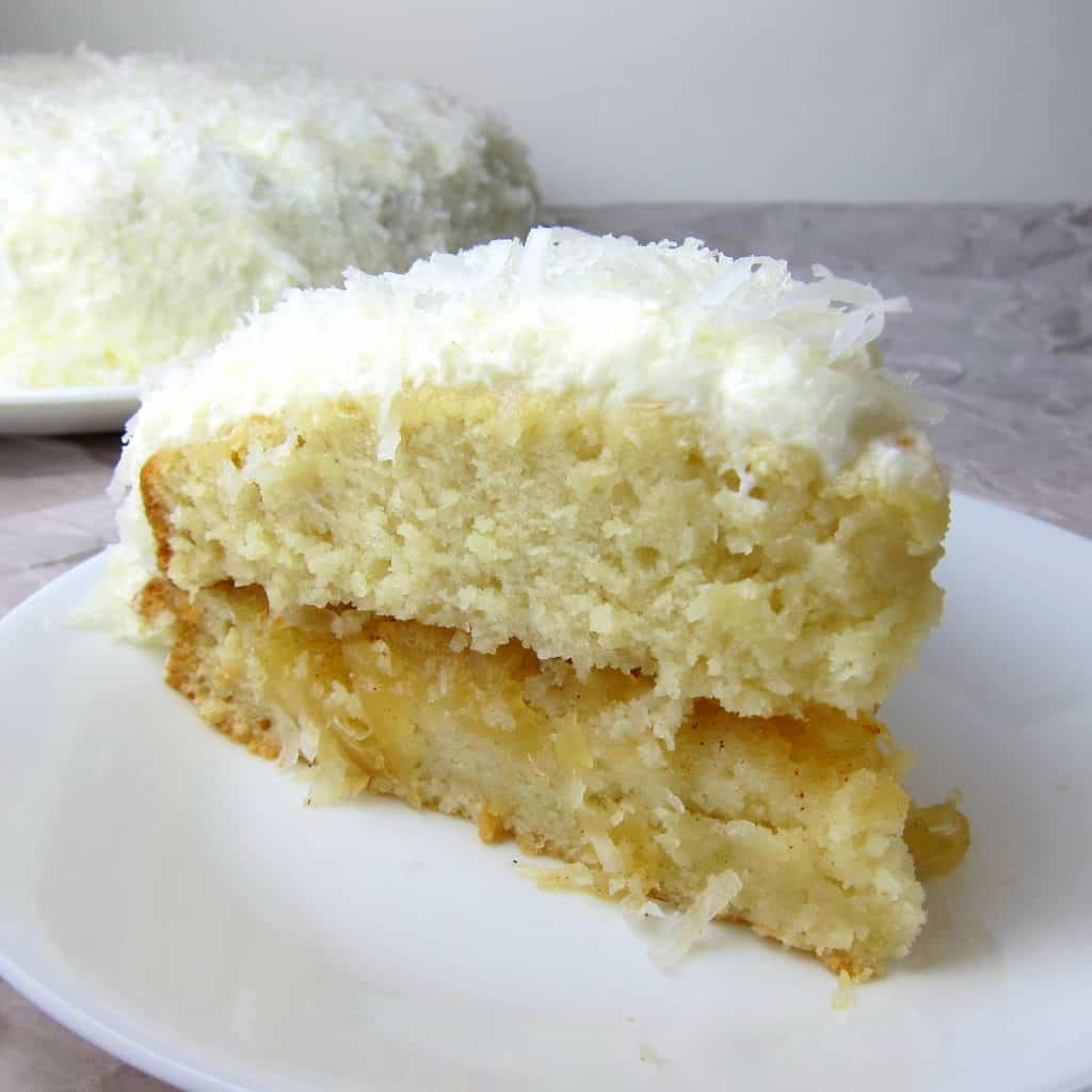 Angel Food Cake With Pineapple Cream Filling
