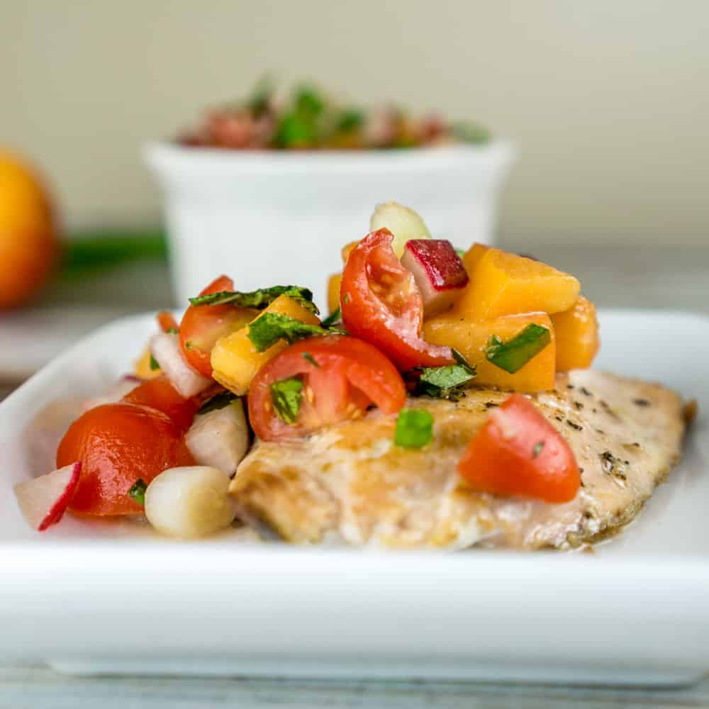An easy 10 minute recipe for a fresh, delicious Tomato Apricot Relish. Serve this relish over pan-seared salmon, grilled chicken breast, or as bruschetta on crusty bread! From http://www.babaganosh.org