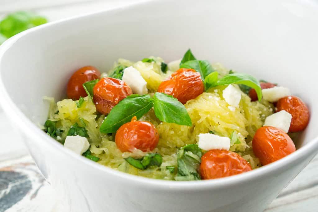 Tomato Basil Spaghetti Squash | Babaganosh
