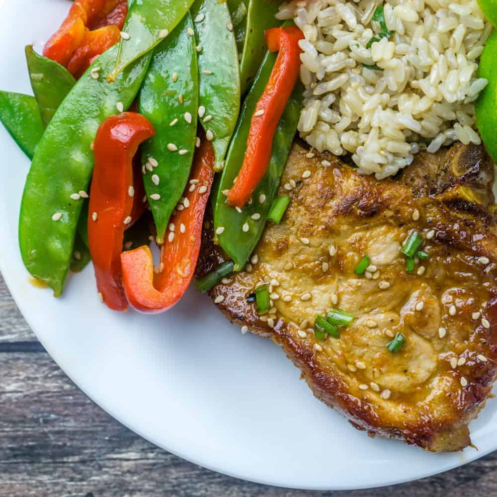 Honey Sriracha Glazed Pork Chops