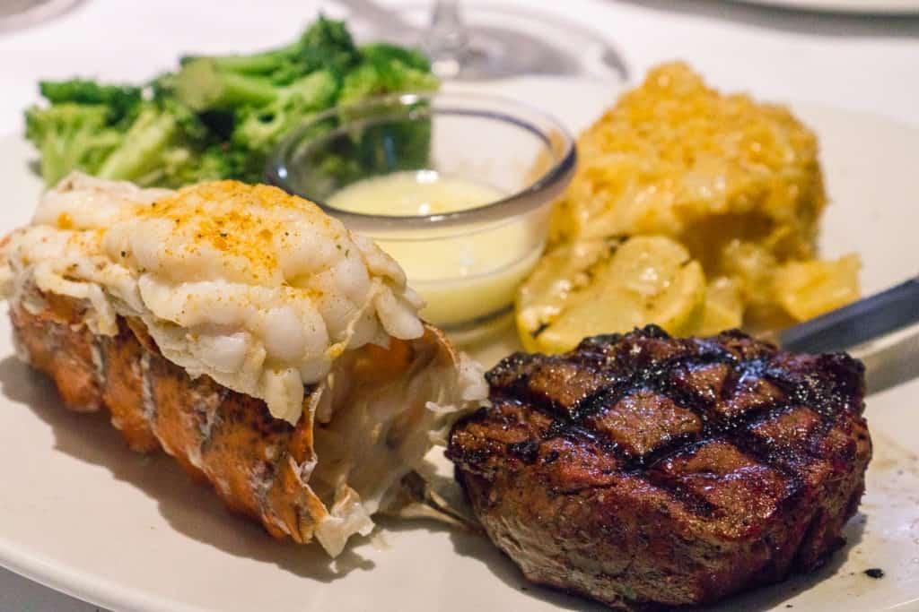 Bonefish Grill Summer Menu - Filet Mignon & Lobster Tail