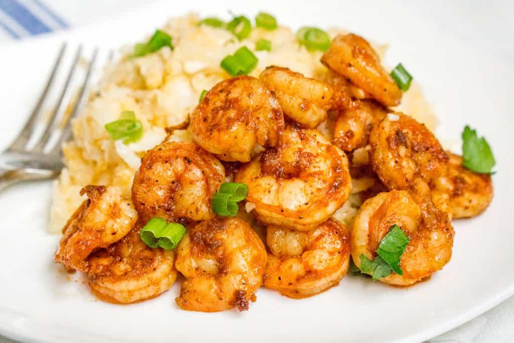 "Cajun Shrimp with Cauliflower ""Grits"" - Babaganosh.org"