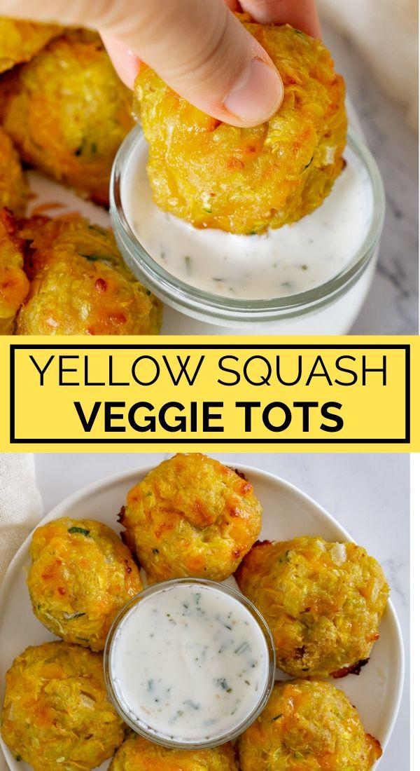 yellow squash tots pinterest graphic