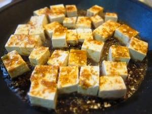 honey ginger tofu