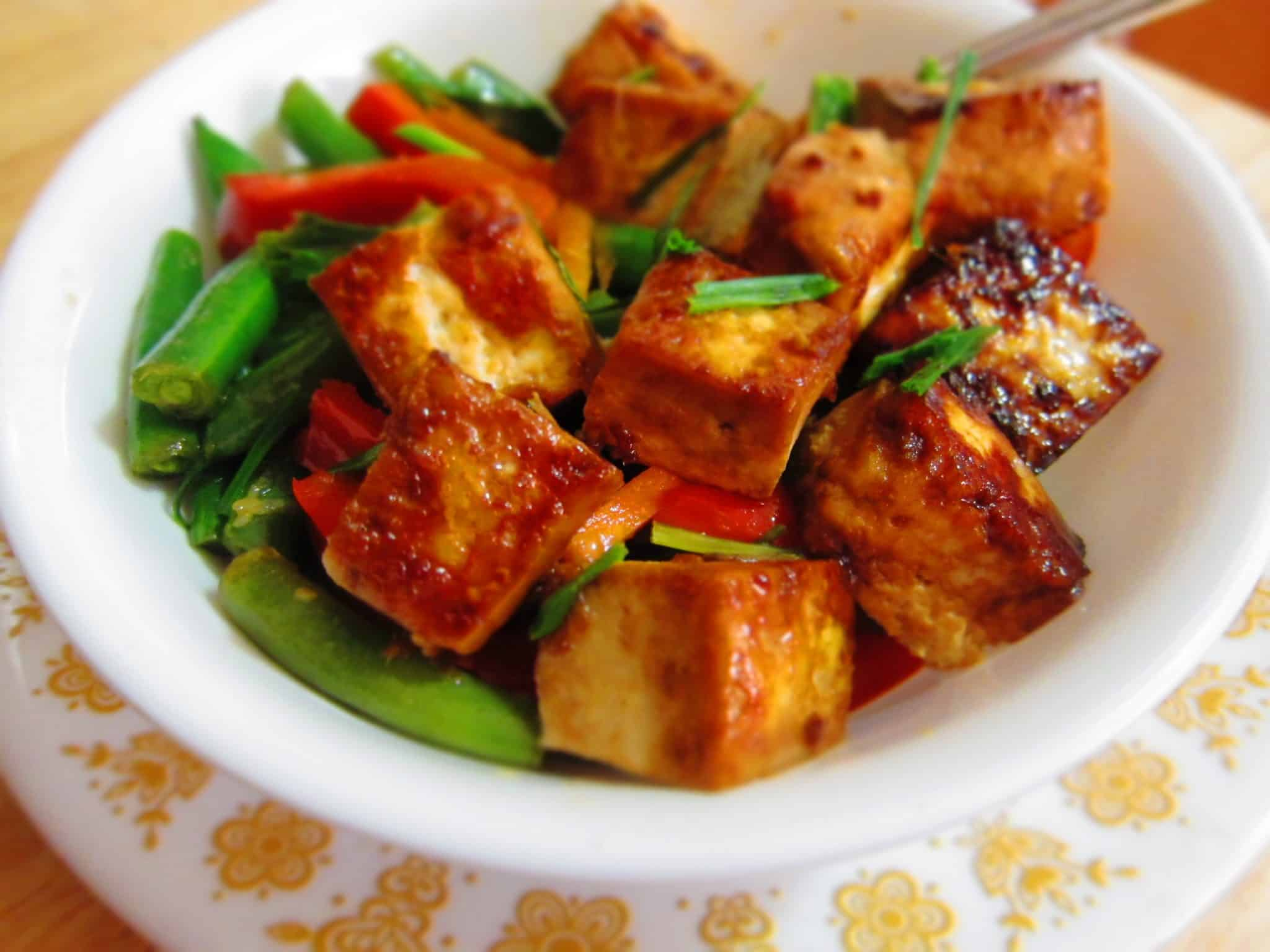 honey ginger tofu
