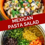 Mexican pasta salad graphic for pinterest