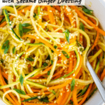 zucchini carrot salad sesame ginger dressing pinterest image