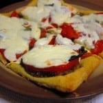 Eggplant Margherita Puff Pastry Tarts