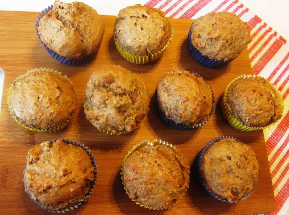 Banana, Cinnamon, and Chia Seed Muffins with Pecans