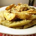 parmesan truffle potato wedges