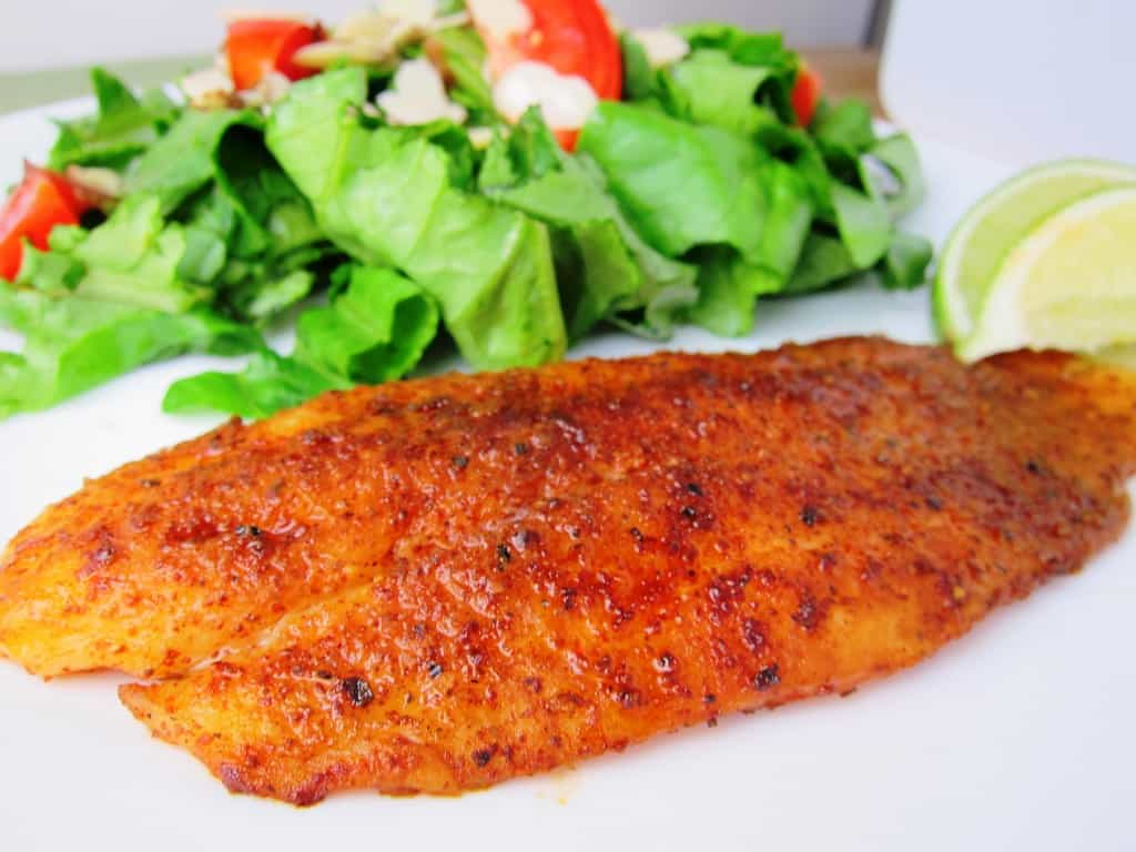 Chili Lime Swai Fillets with Side Salad