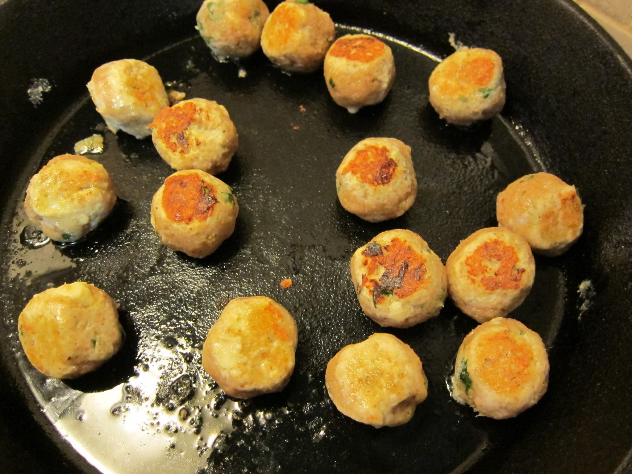 cheesy chicken meatballs