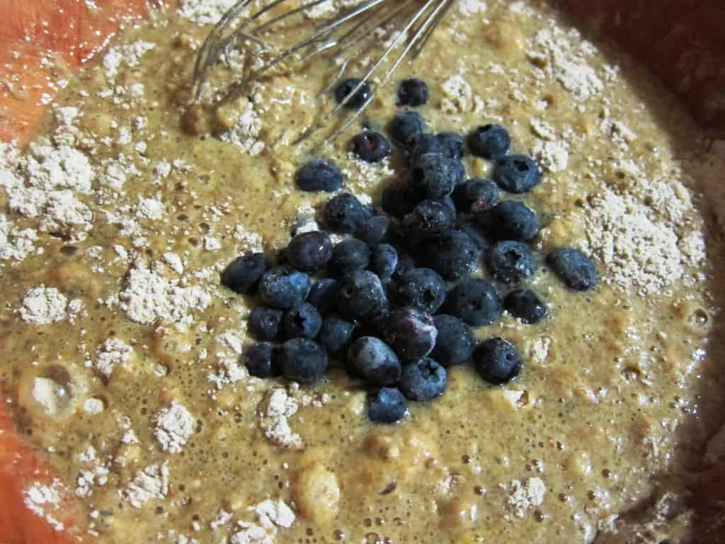wheat germ blueberry muffins