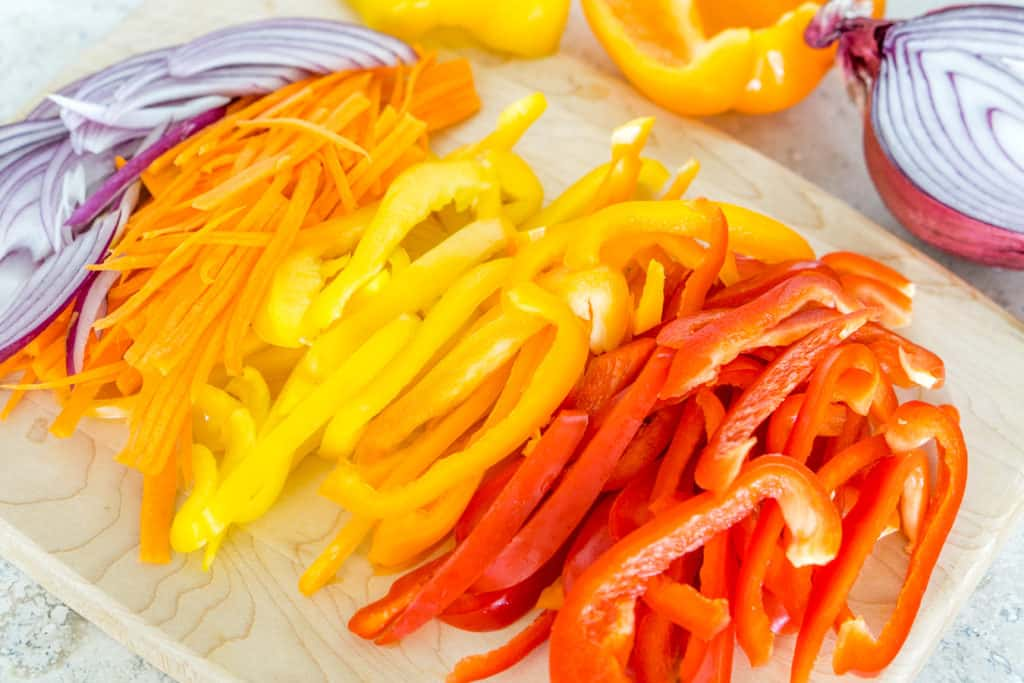 Ingredients for the Warm Sauteed Bell Pepper Salad