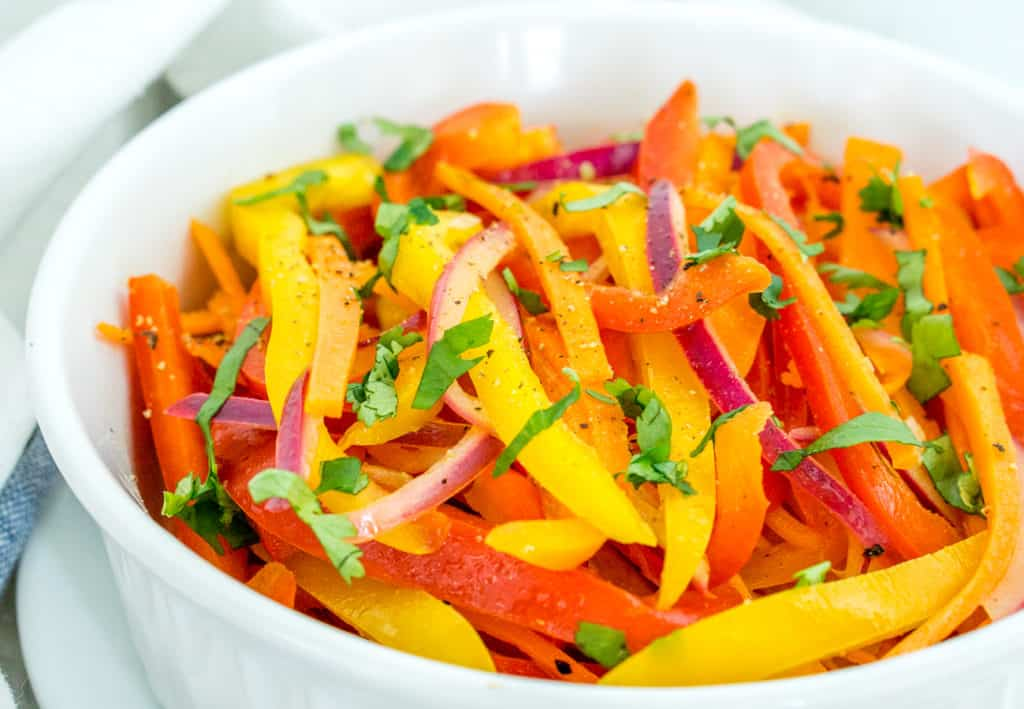 Warm Sauteed Bell Pepper Salad