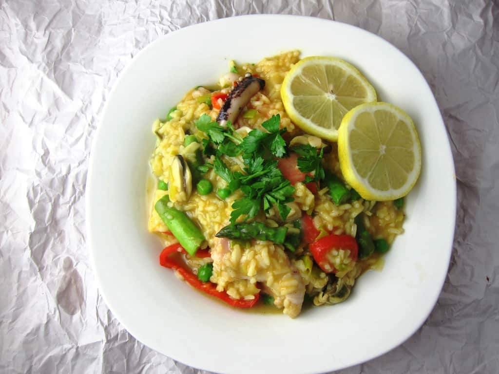Seafood and Vegetable Paella