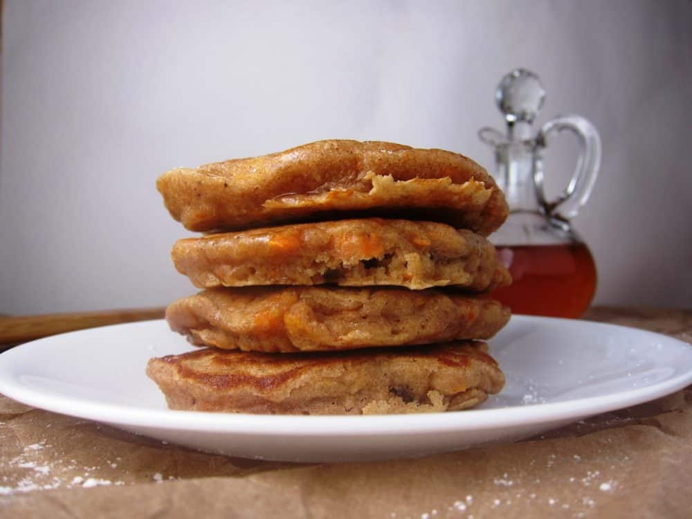 Whole Wheat Carrot Cake Pancakes