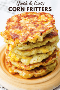 stack of corn fritters