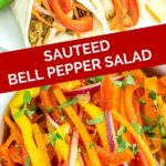 warm bell pepper salad pinterest graphic
