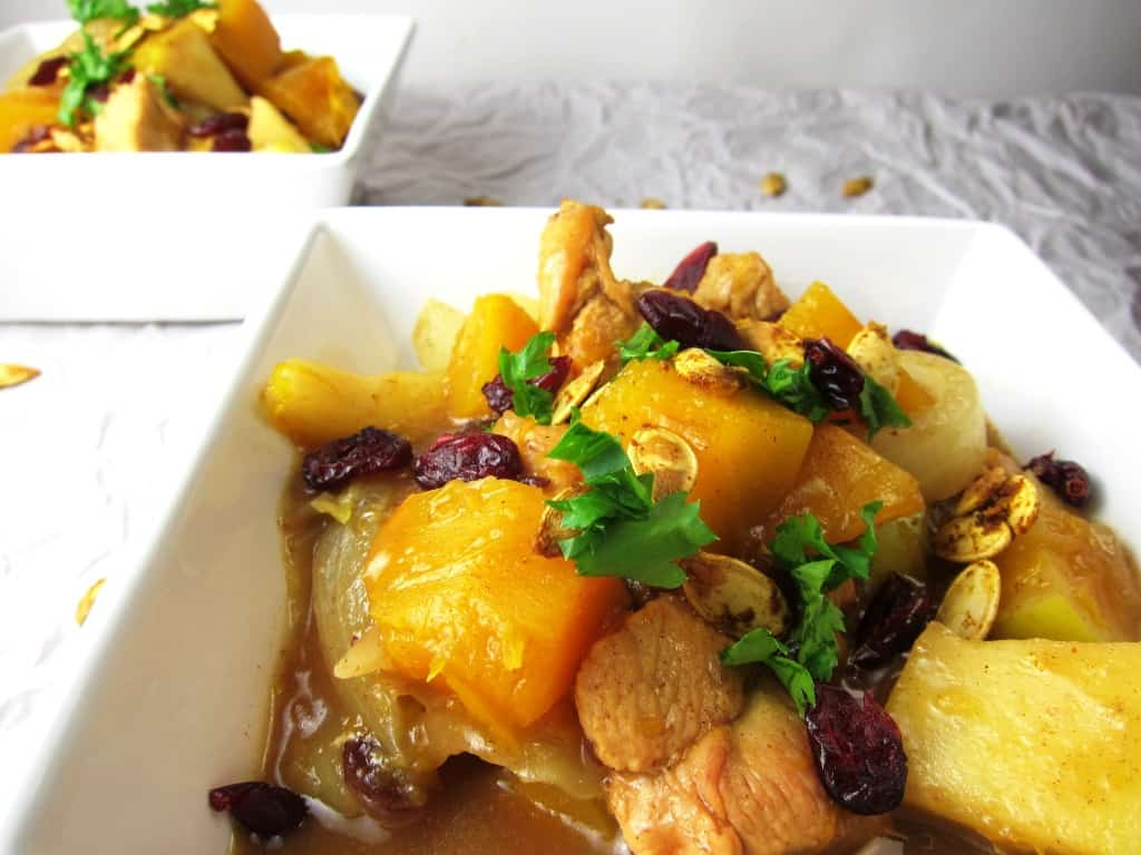 Moroccan Chicken Stew with Pumpkin
