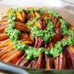Crispy Sweet Potato Roast with Parsley Salsa Verde