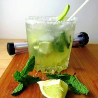 Coconut Mojitos with Agave Syrup