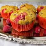 cranberry date walnut muffins