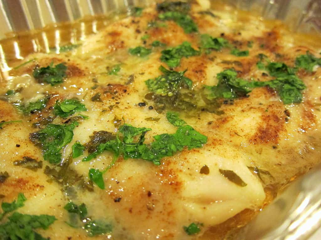 Baked Swai in a White Wine Lemon Garlic Sauce