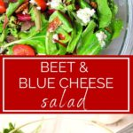 beet and blue cheese salad pinterest graphic