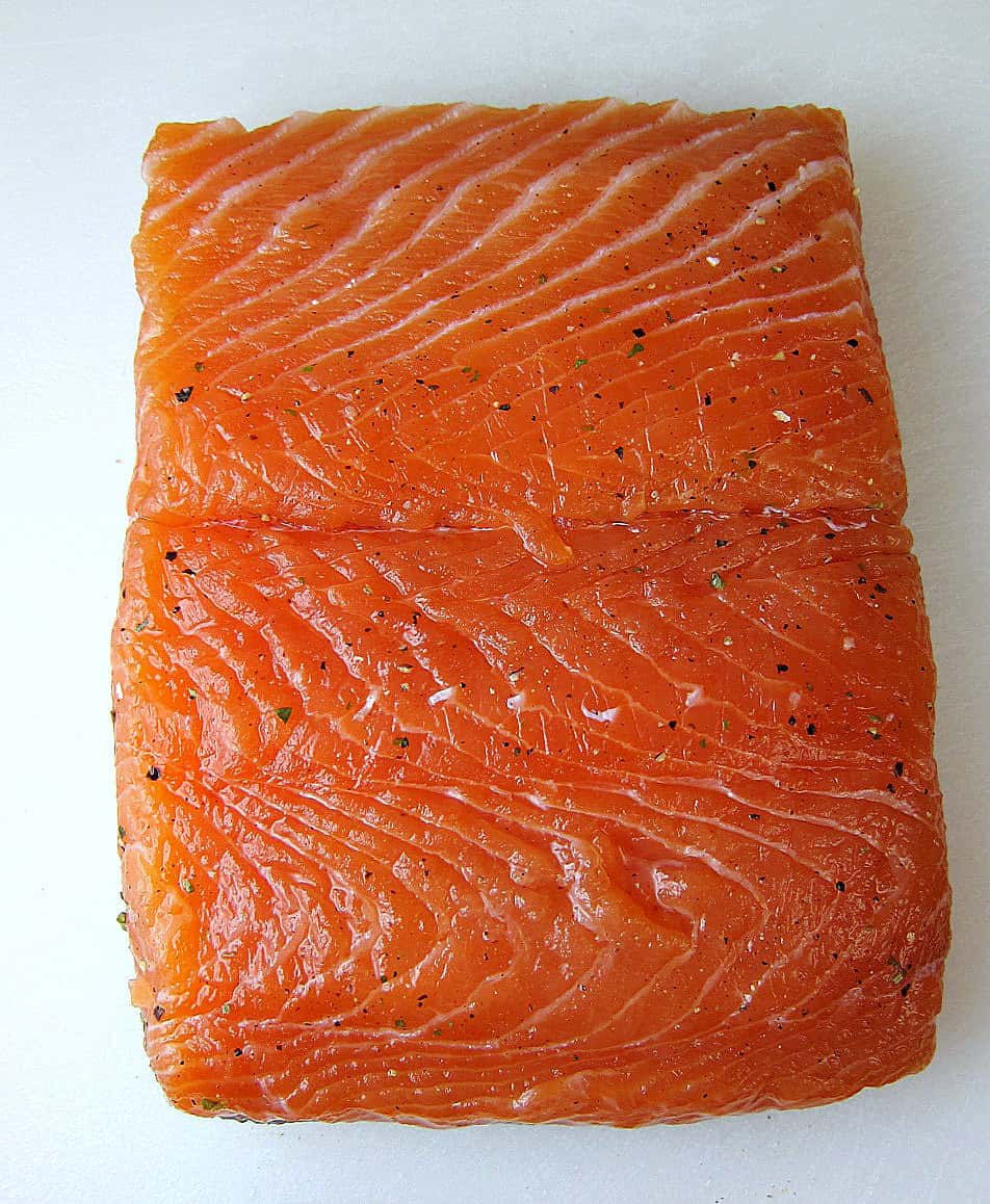 Make sure you scroll all the way down to the bottom of the post to read about what to do with the leftover salmon skin!
