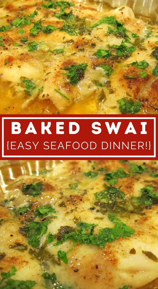 baked swai pinterest graphic collage