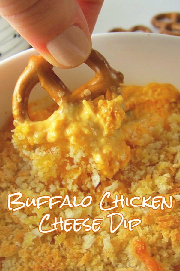 buffalo chicken cheese dip pinterest image