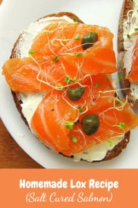 homemade lox - pinterest image