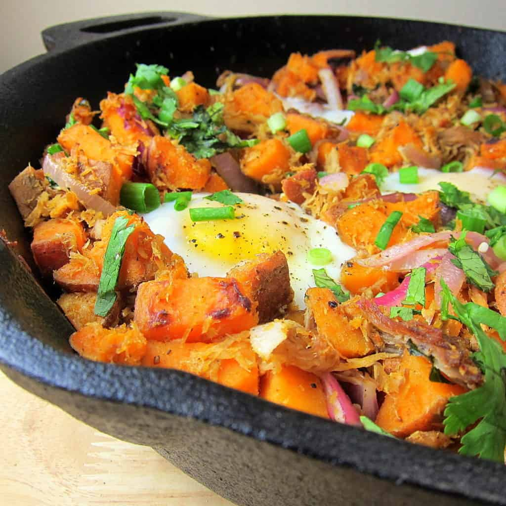 image of Pulled Pork Sweet Potato Hash