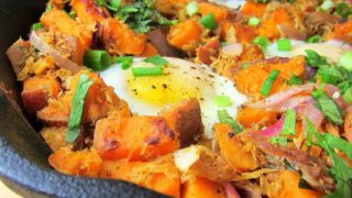 Sweet Potato Pulled Pork Hash