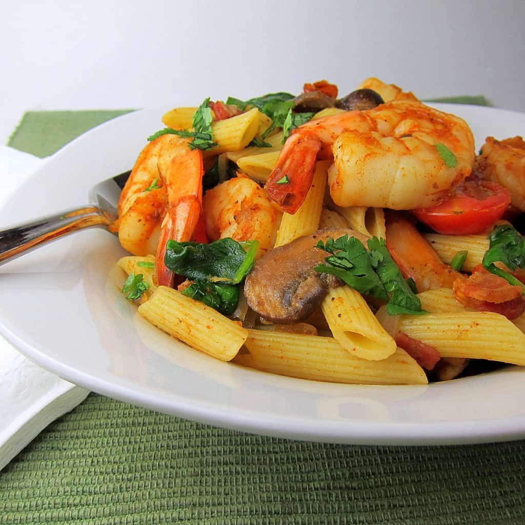 Cajun Shrimp and Vegetable Pasta