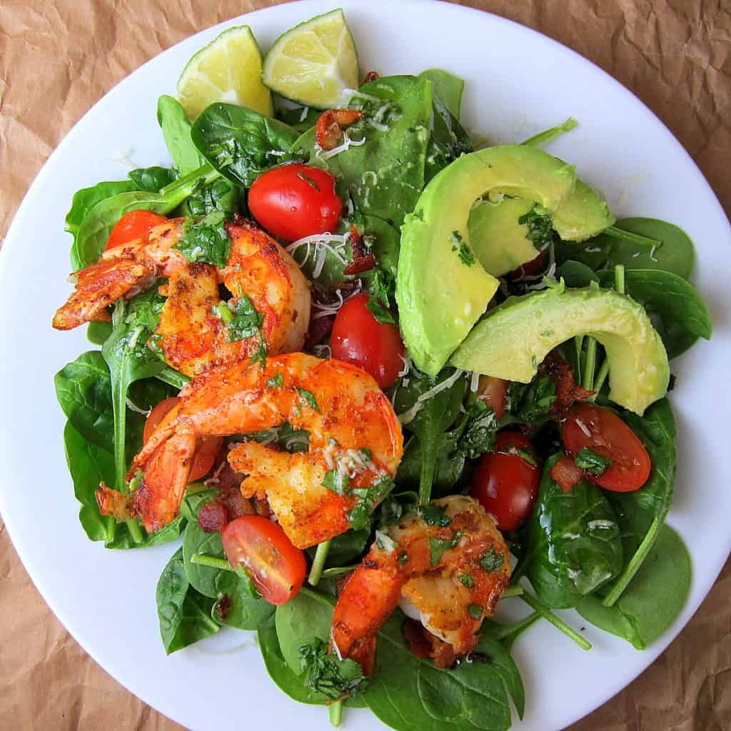Cajun Shrimp Salad with Cilantro Lime Dressing