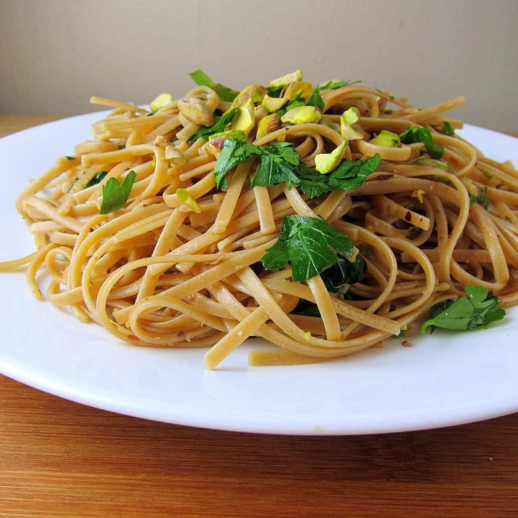 pistachio linguine
