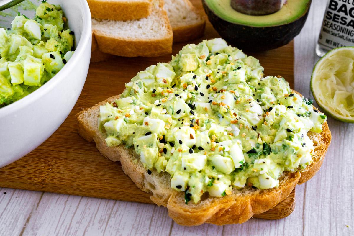 avocado egg salad on toast