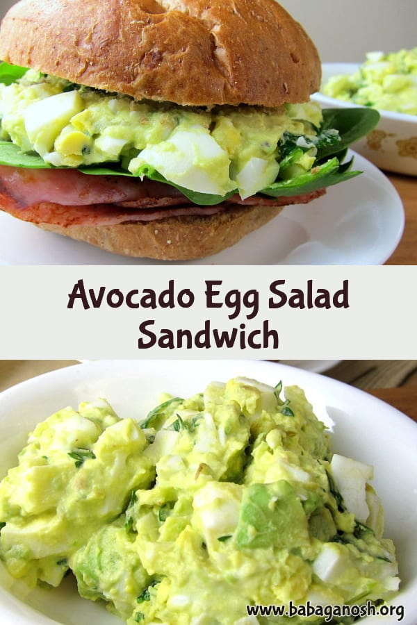 avocado egg salad - green eggs and ham sandwich pinterest image