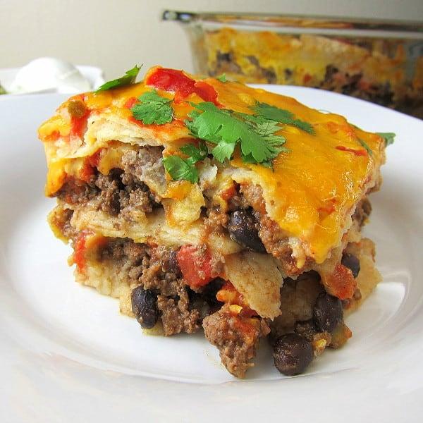 Mexican Lasagna - a fun twist on the classic enchilada recipe!