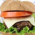 juicy oven baked venison burgers pinterest image