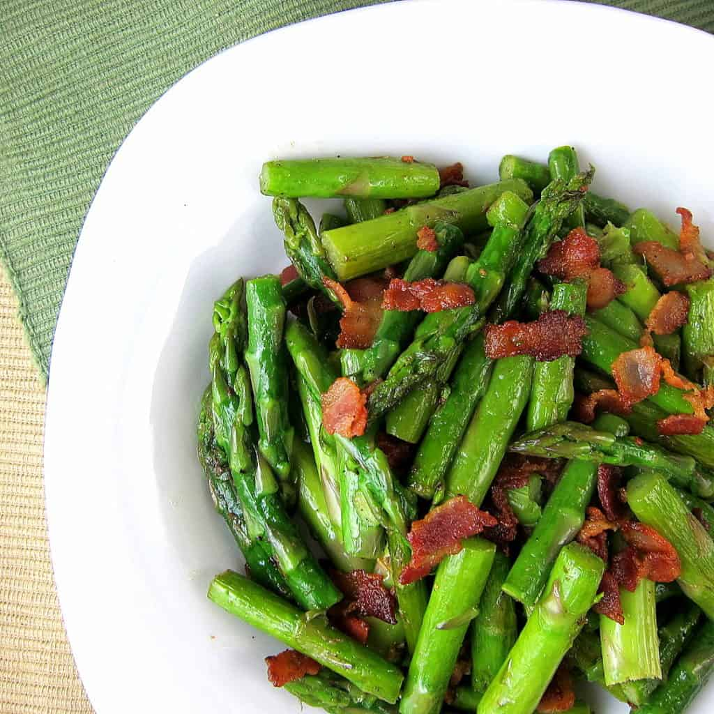 lemony asparagus with bacon side dish