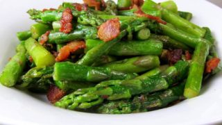 Lemony Asparagus with Bacon