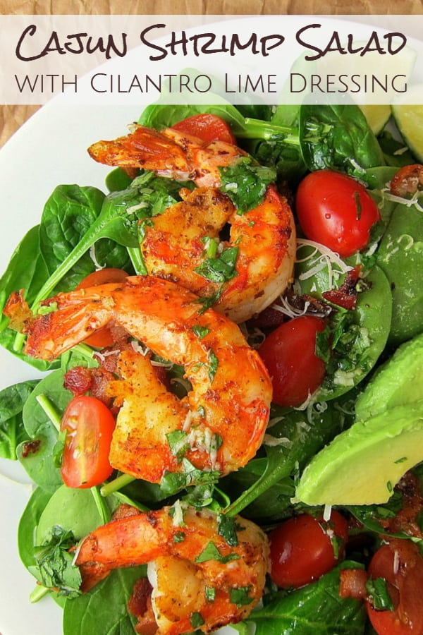 cajun shrimp salad pinterest image